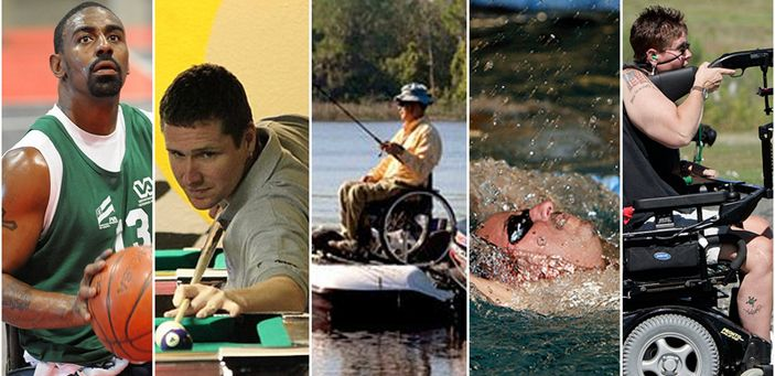 Adaptive sports opportunities for disabled veterans at www.pva.org/sports