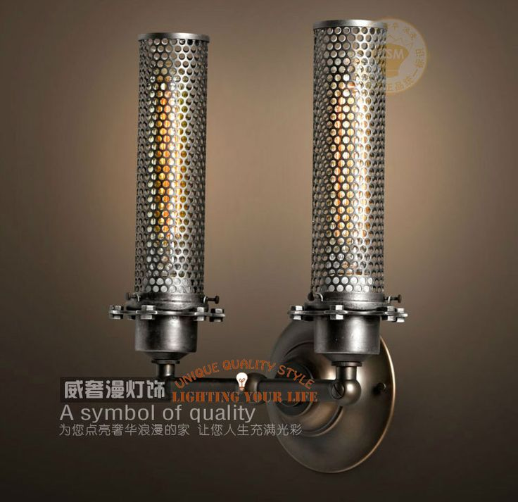 Cheap lamp shades for wall lights, Buy Quality lamp sticker directly from China light therapy lamp Suppliers: Free shippingnew 2014 rustic wall sconce lighting vintage LED Industrial Wall lamp Hollow Wall light Outdoor Doub