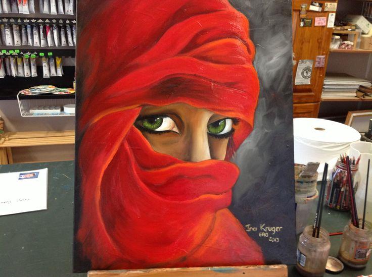 Oil on canvas...be still