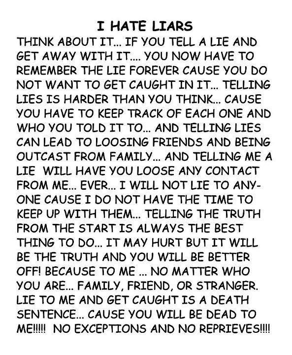 i hate people who lie quotes - photo #14