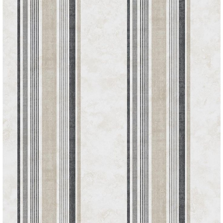 8 in. x 10 in. Hamilton Grey Stripe Wallpaper Sample