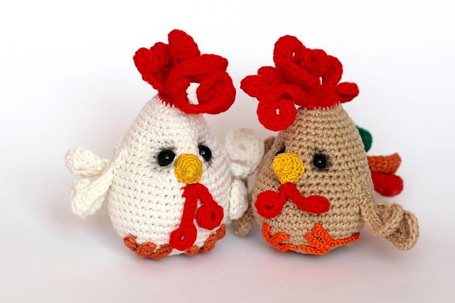 """Amigurumi Funny Cock - Free Crochet Pattern - Available in English and German - PDF Format, click """"download"""" here:http://www.ravelry.com/patterns/library/funny-cock"""