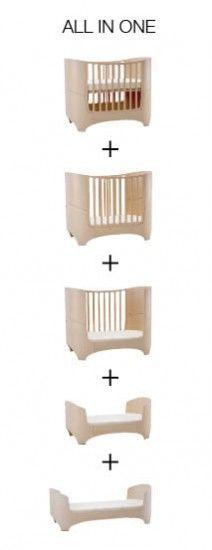 5 en 1. La cama Leander cambia con el crecimiento del bebe, desde su nacimiento hasta la edad de 5 o 6 años. La cuna se va poco a poco convirtiendo en una cama, ya que esta diseñada y construida con partes que están montadas y se van extendiendo o quitando adaptándose al tamaño del pequeño/a. http://www.nordika.mx/leander-bed-haya-natural-con-colchon-delgado.html