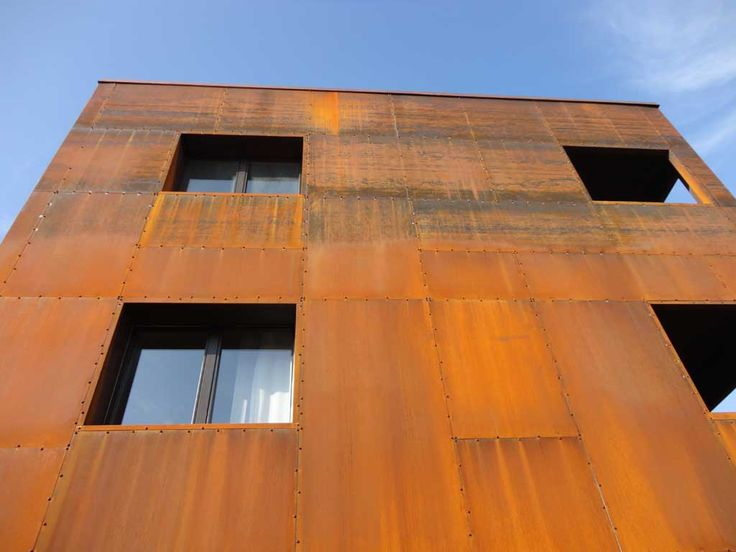 Reused Pallet Facade Google Search Facade Corten