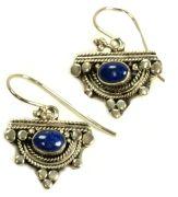 Stirling Silver Earrings - Lapis semi precious stone  $24.00