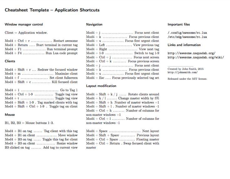 Cheatsheet LaTeX template
