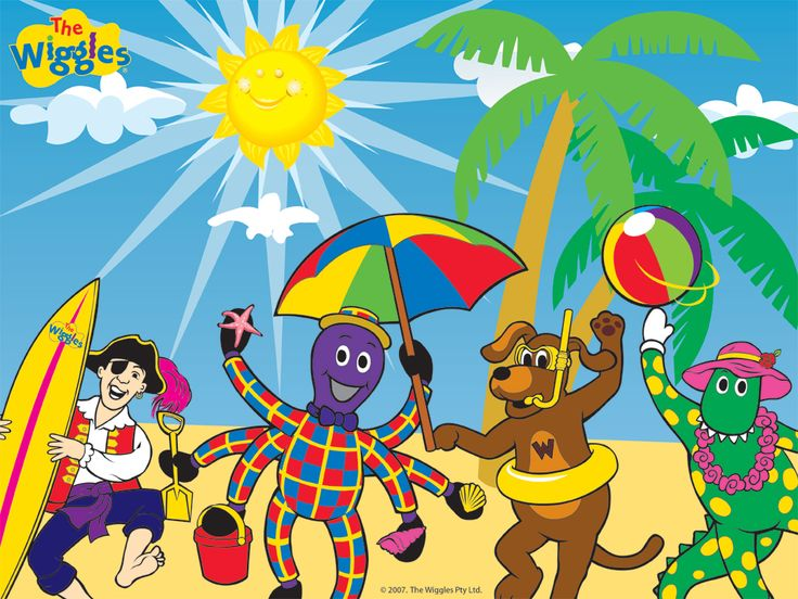 The Wiggles Friends On The Beach - the-wiggles Wallpaper