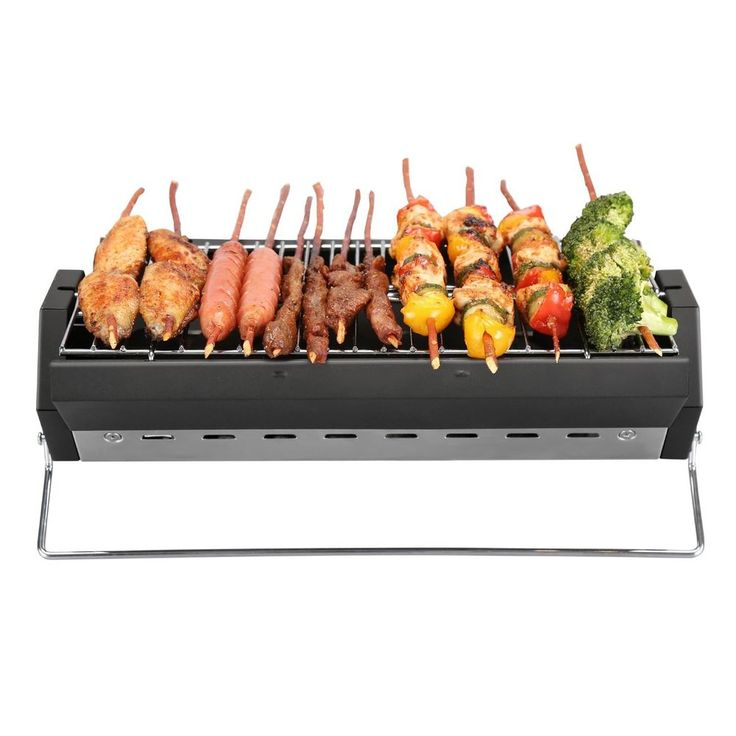 Portable Picnic Barbecue Grill Charcoal Foldable Stainless Storage Outdoor Garde   Garden & Patio, Barbecuing & Outdoor Heating, Barbecues   eBay!