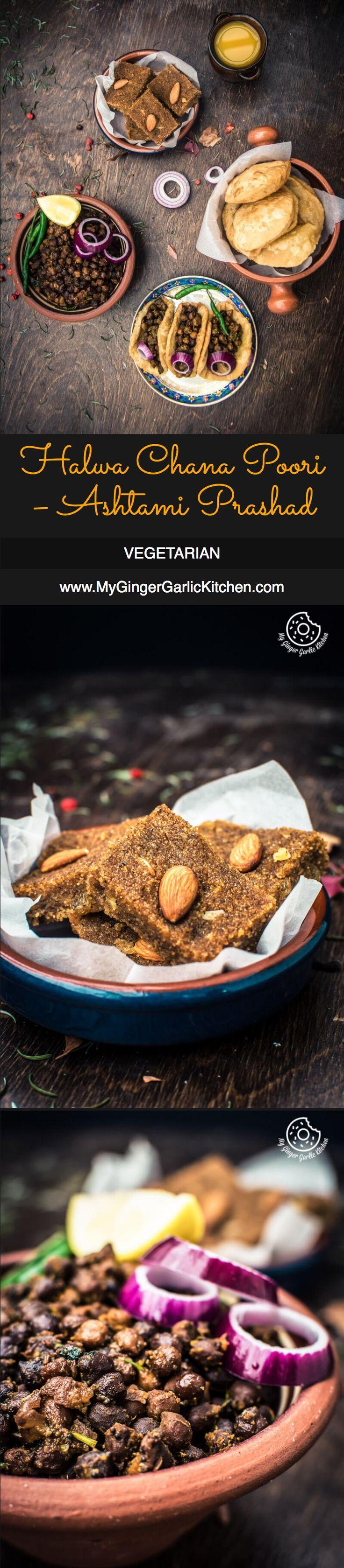 Sooji Halwa, Sookha Kala Chana and Puffed Pooris make a great Ashtami Prasad.