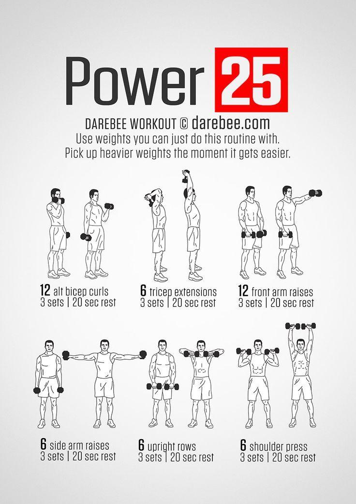 Power 25 Workout   workout   Pinterest   Workout, Upper