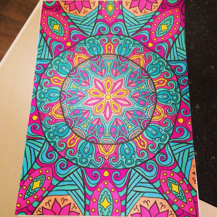 273 best images about Finished coloring pages for adults ...