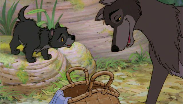 *RAKSHA & WOLF PUP ~ The Jungle Book, 1967