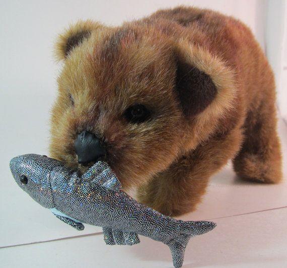 Handmade Grizzly Brown Bear Wildlife Plush by AnimalArtKingdom