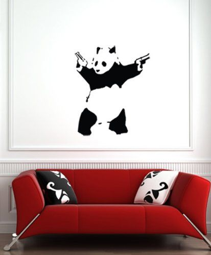 Banksyu0027s Shooting Panda Is A Popular Street Decor Motif. A Cool Wall Decal  No Doubt