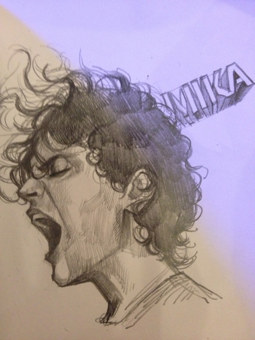 This is an Amazing portrait of @mikasounds done by a Fan on Tumblr. :)))