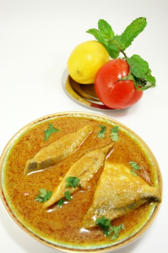 Pomfret curry  known as '' Rupchanda Jhol'' in Bengali