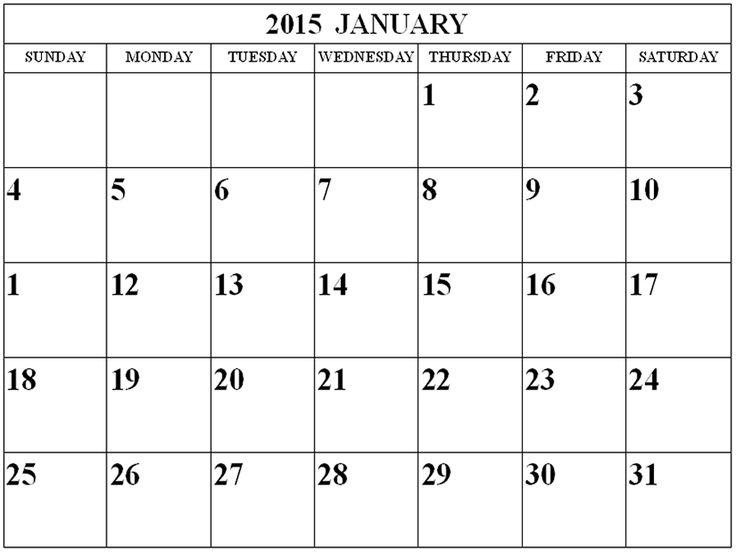 Best 25+ January 2015 calendar ideas on Pinterest Calendar for - free blank calendar