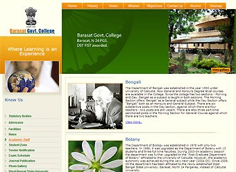 Website #development for Barasat Govt. College #WestBengal #India