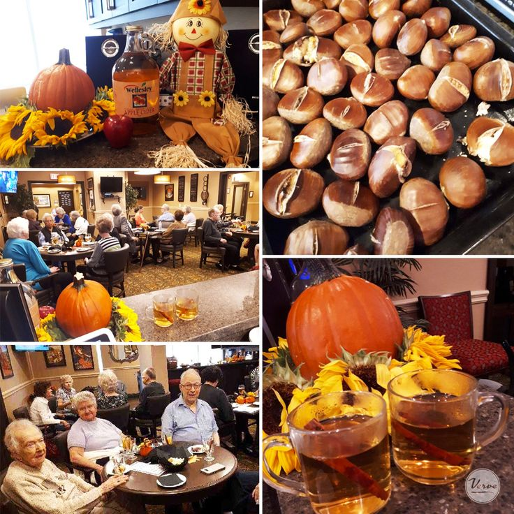 Nothing says thanksgiving like roasted chestnuts & warm apple cider at Richmond Hill Retirement!