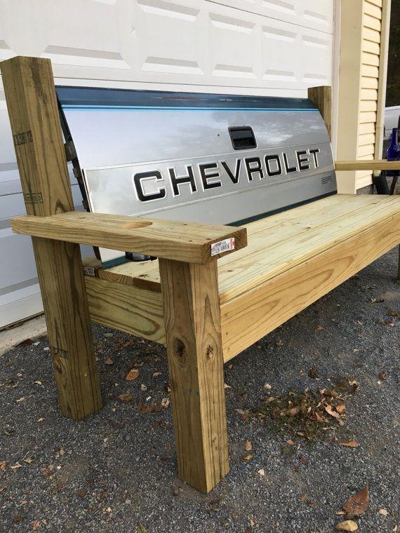 Chevrolet Truck Tailgate Bench  handmade junkyard