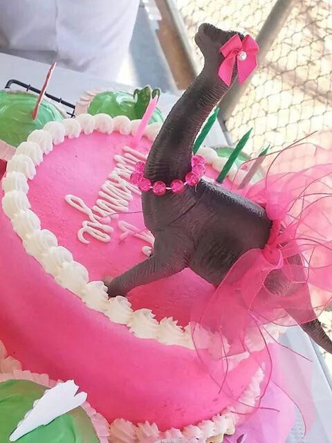 Dinosaur cake for girls to cute!