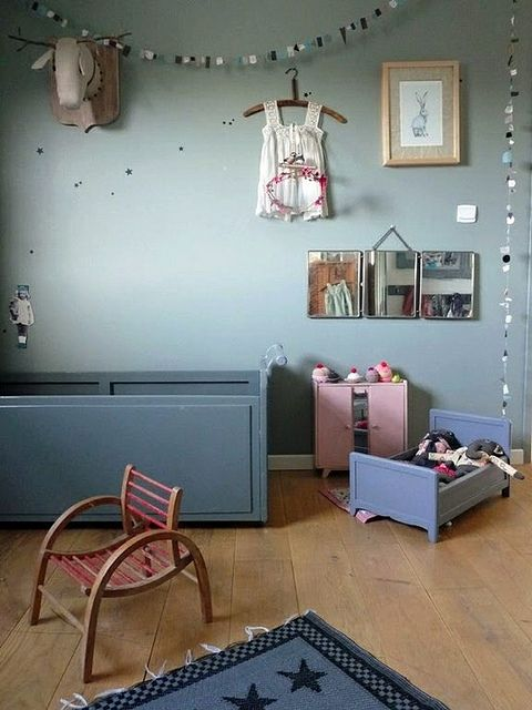 blue vintage child room