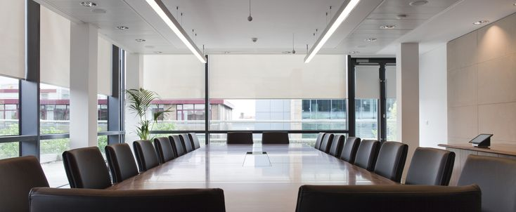 Interior Designs,Modern Office Meeting Room With Stunning Interio Design Complete With Rectangular Meeting Table On Middle Room And Fancy Swivel Chair Also Gorgeous Large Glass Window,Excellent Office Meeting Room Design For Modern Office