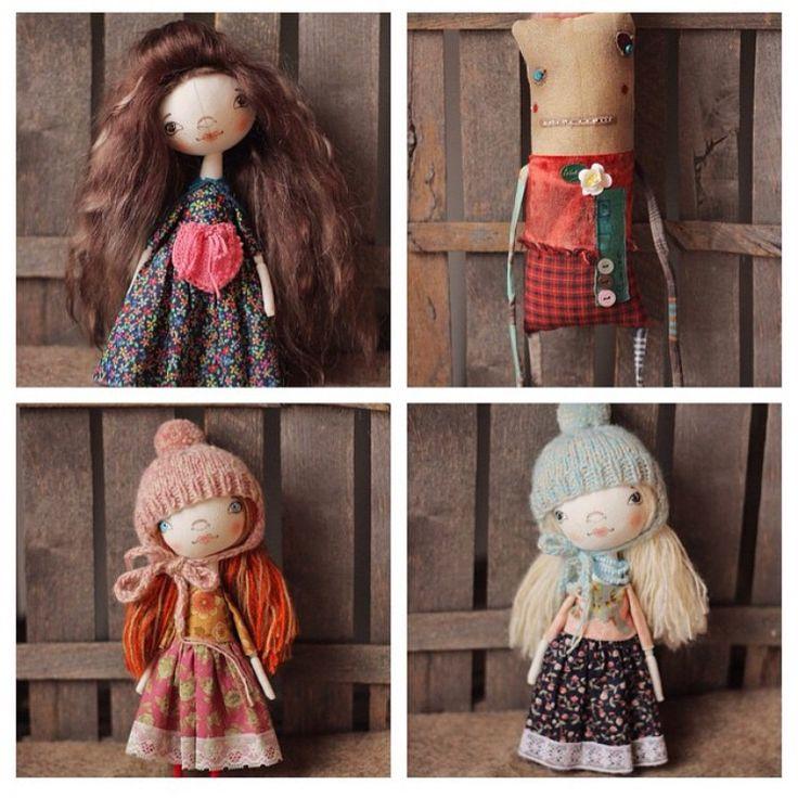 My past works. Doll, primitive, art, artdolls, artdoll, textile,