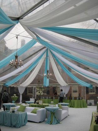 ceiling decor for a wedding reception - Gray Canopy Decoration