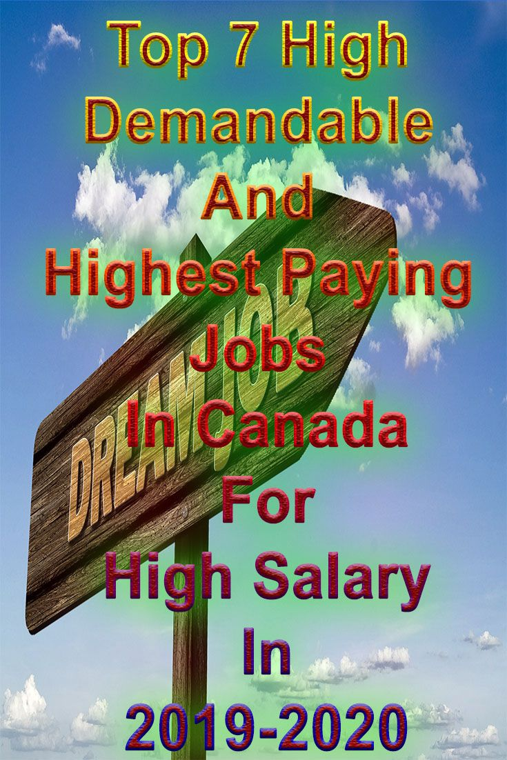 Best Paying Careers 2020 Highest Paying Jobs In Canada | Educational Talks | Top paying