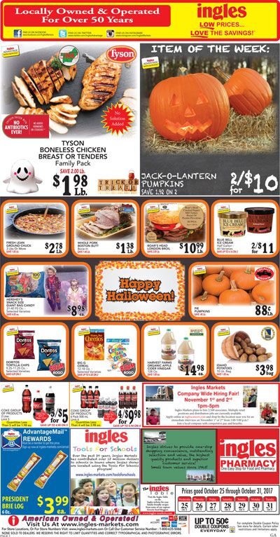 Ingles Weekly Ad October 25 - 31, 2017 - http://www.olcatalog.com/grocery/ingles-weekly-ad.html