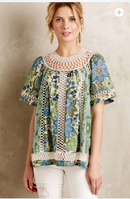at anthropologie Loop Lace Blouse