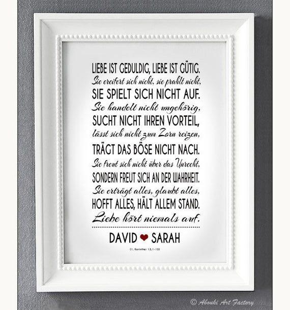 Kunstdruck Traumpaar HOHELIED / ABOUKI Poster Bild Wandbild personalisierte Geschenkidee zur Hochzeit Verlobung Heirat Gastgeschenk