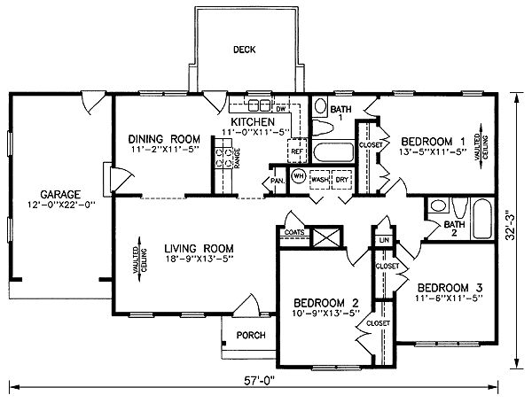 Traditional House Plan 45502 Level One