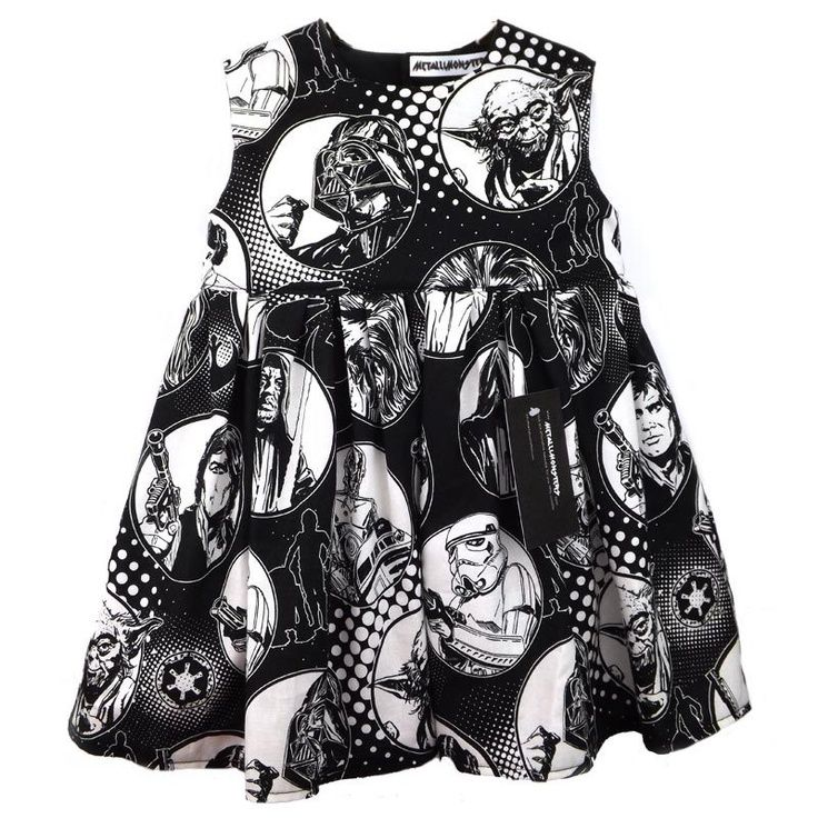 If I have a little girl, she'll definitely have this: Star Wars Baby Dress - Metallimonsters