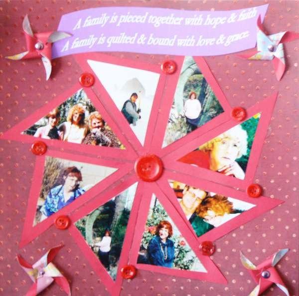 PinWheelPinwheels Scrapbook, Scrapbook Layouts, Creative Ideas, Scrapbook Pinwheels Layout, Scrapbooking Cards, Scrapbook Ideasetc, Parties Ideas, Scrapbooking Families, Families Scrapbook Ideas