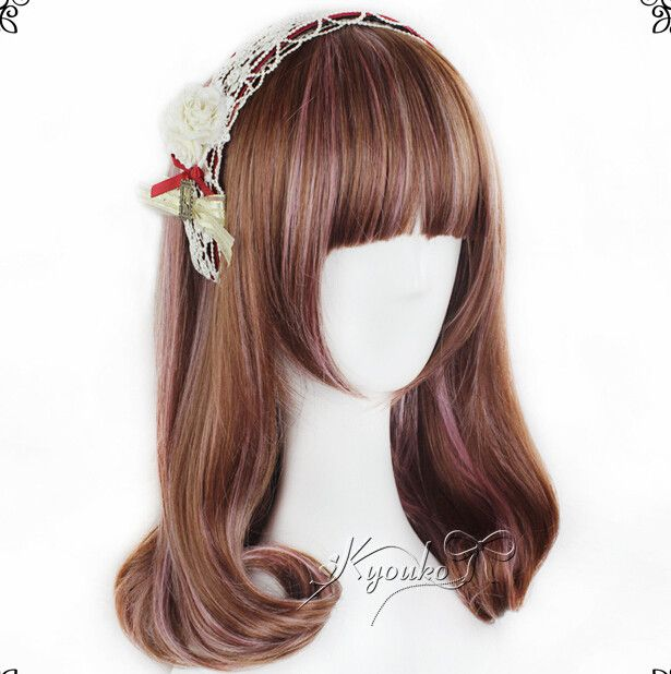 """Color:brown gradient Length:45cm/17.55"""". (tip:1mm=0.039inch) Tips: *Please double check above size and consider your measurements before ordering, thank you ^_^"""