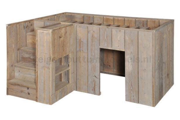 hoogslaper van steigerhout