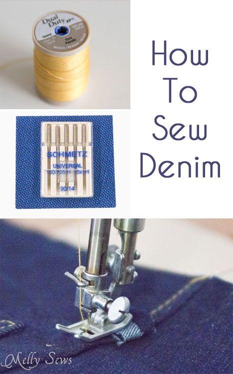 Tips to Sew Denim