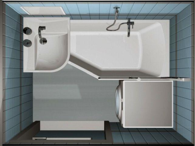 Маленькая ванная комната фото 60