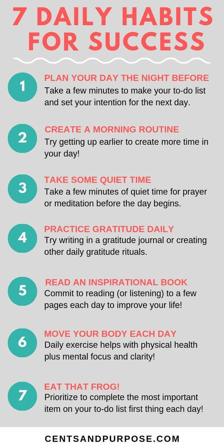 7 Habits You Need To Create To Have A Successful Day Self Improvement Tips Success Habits Self Improvement