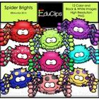 Grab some non-scary spiders for Halloween!  This set contains all of the images shown.  12 images (9 in color and the same 3 in B&W).  Images s...