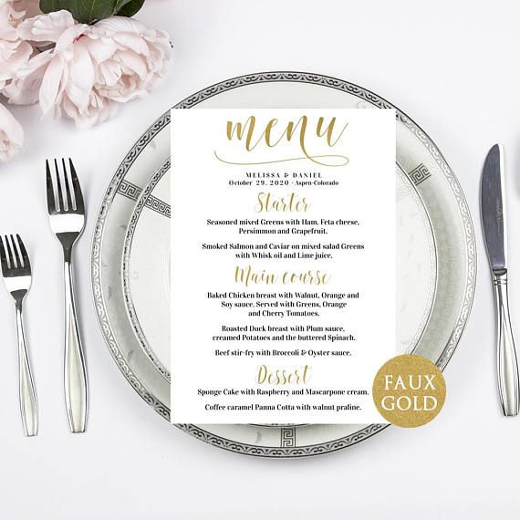 The 25+ best Wedding menu template ideas on Pinterest Free - formal dinner menu template