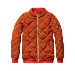 Scotch Shrunk Quilted bomber jacket