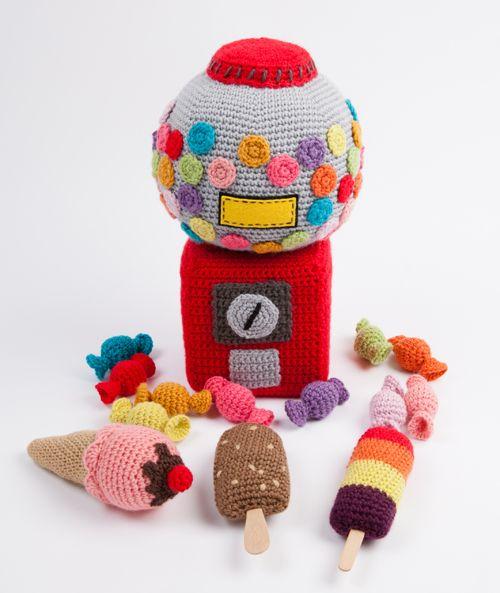 Crochet play food - sweets and ice-creams - from Le Panier de la Marchande au Crochet