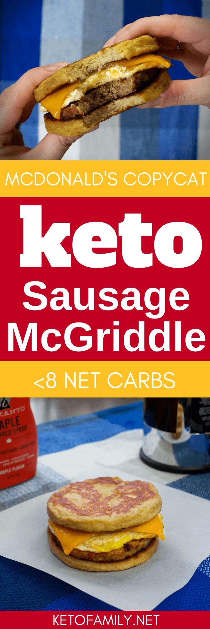 Keto Sausage McGriddles: Low carb McDonald?s breakfast sandwich copycat