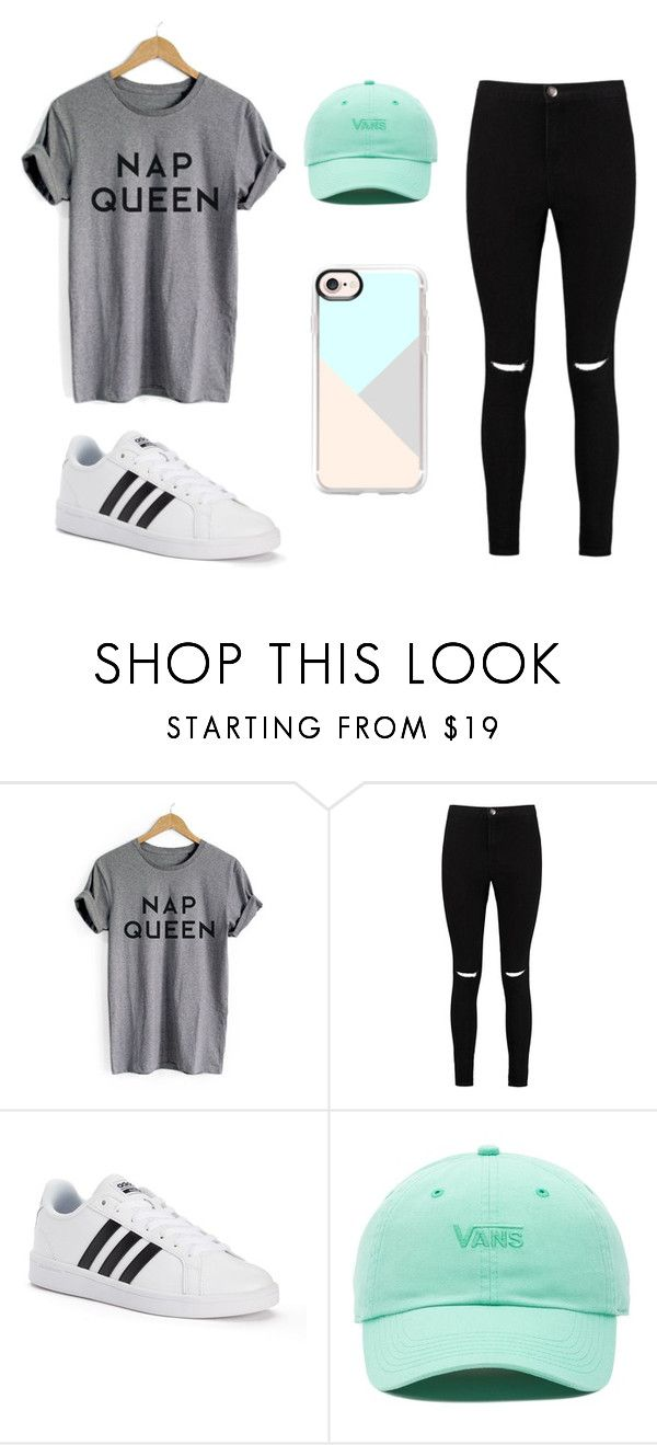 """""""Casual"""" by quelstylist on Polyvore featuring moda, Boohoo, adidas, Vans e Casetify"""