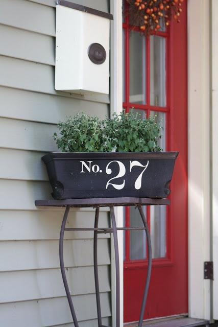 Like the idea of not having house number directly on the house...going to do this!