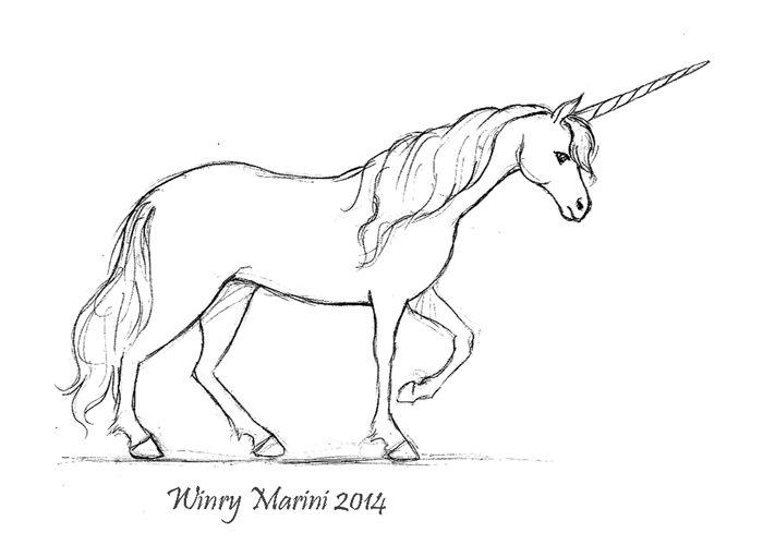 Art and Lore: Unicorn Draft Animation