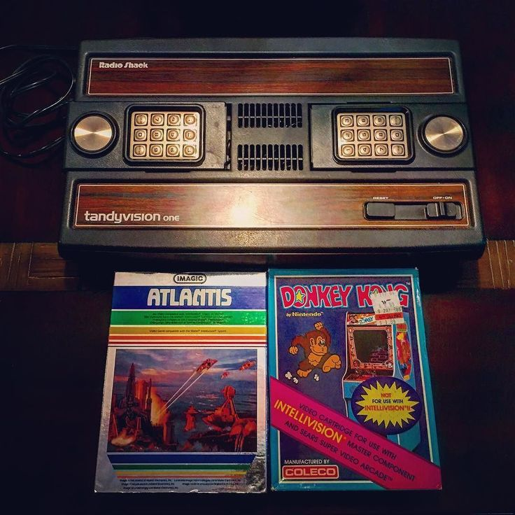 """Pure pleasure! shared by retro_gaming85 #intellivision #microhobbit (o) http://ift.tt/2aSvT8H Intellivision ... Or at least radio shacks version ... The """"tandyvision"""" #retro #retrogames #retrogaming #retrogamecollector #retrogamingrelived #nes #snes #n64 #nintendo  #tandyvision #donkeykong #atlantis"""